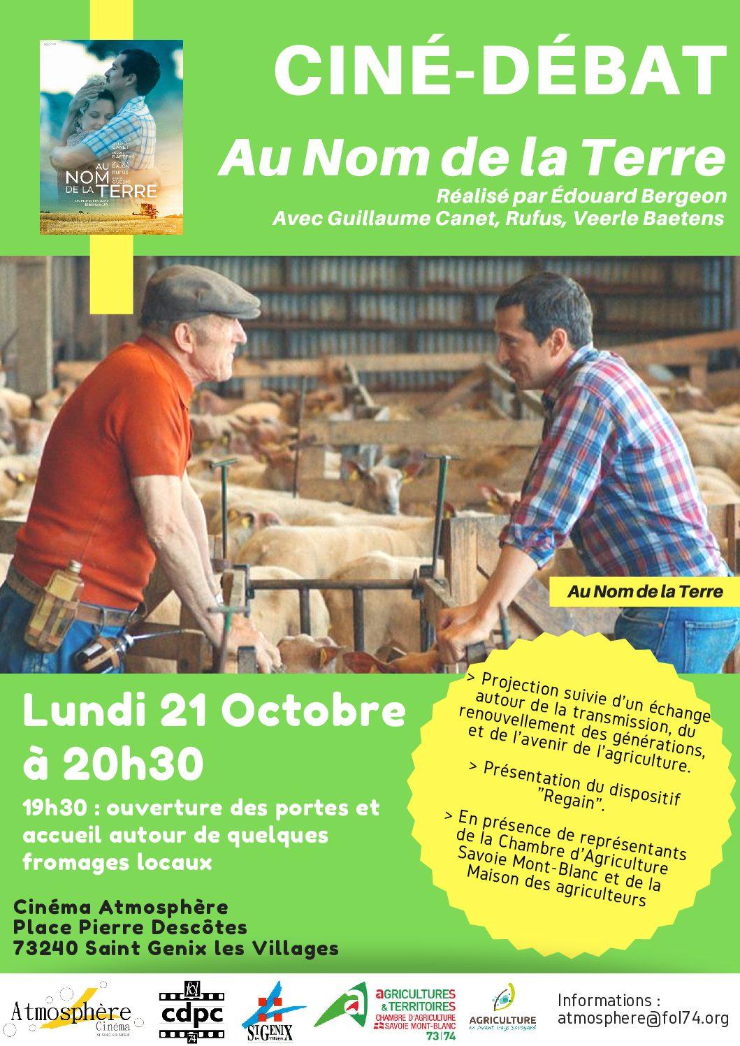 Ciné-débat autour de l'agriculture à Saint Genix les Villages